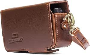 Megagear Horizontal Braun Leder Kamera Tasche Für Kamera