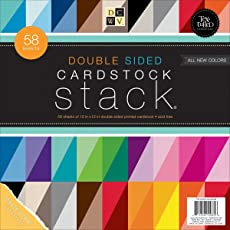 Die Cuts With a View DCWV Double Sided Cardstock Stack, Textured, 58 Sheets, 12 x 12 inches