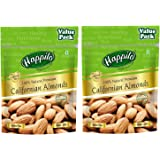 Happilo 100% Natural Premium Californian Almonds Super Value Pack Pouch, 2 x 500