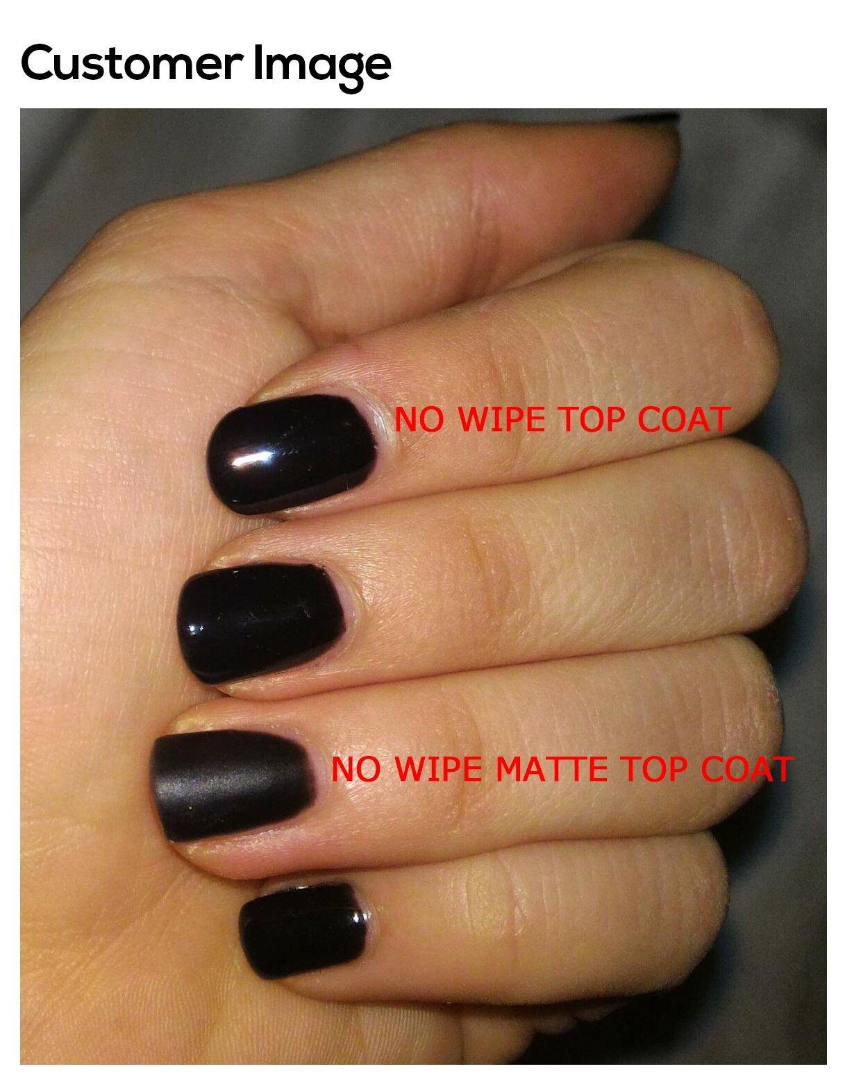 AIMEILI Top Coat Mate Esmalte Semipermanente De Uñas Soak Off UV LED Uñas De Gel – No Wipe Matte Capa Superior 10ml