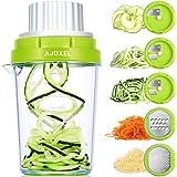 AJOXEL Coupe Légumes Spirale 5 en 1, Râpe Légume Manuel Spiraliseur de Légumes Ustensile Cuisine Rape de Courgettes Concombre