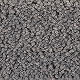 Teppichboden Auslegware | Hochflor Langflor | 400 und 500 cm Breite | grau | Meterware, verschiedene Größen | Größe: 1 Muster