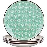 vancasso, série Tulip, Assiette à Dessert, en Porcelaine Colorée, 4 Pièces, Style Marocain - 21 cm