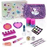 Anpro Trucchi Bambina Set, 15 Pezzi Cosmetici Lavabili per Bambine Principessa, Set di Trucco per Ragazze, Compreso Rossetto,