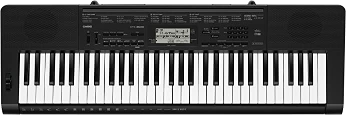 Casio CTK-3500 61-Key Portable Keyboard, Black