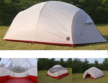 Luxe Tempo 4 Person Ultralight Family C&ing Tent High-end Sil Nylon Backpacking Tent 3-4 Season Tunnel Tent Amazon.co.uk Sports u0026 Outdoors & Luxe Tempo 4 Person Ultralight Family Camping Tent High-end Sil ...
