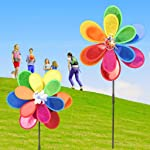 Wiffe paillettes insetto Windmill girandola giravento Home yard Garden Decor Kids Toy