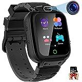 Montre Connectée Enfant, Montre Intelligente Enfant 12-in-1 Vidéo 7 Jeux Musique MP3 Smartwatch pour Fille Garçon(Noir)