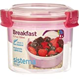 Sistema SI21355-3 Boîte à Petit-déjeuner to Go 530ml Rose, Plastique, 11,4 x 11,4 x 9,6 cm