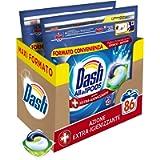 Dash All in 1 Pods Detersivo Lavatrice in Capsule, 86 Lavaggi (2 x 43), Azione Extra-Igienizzante, Maxi Formato, Rimuove…