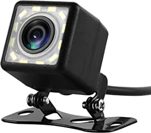 Wilktop Rückfahrkamera Auto 12 Beleuchtungs Leds Rückfahrkamera Ip67 Wasserdicht Mit Nachtsicht 120 Winkel Rückkamera Für Auto Elektronik