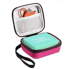 Shucase Hart Reise Tasche für JBL Go Ultra Wireless Bluetooth Lautsprecher(pink)