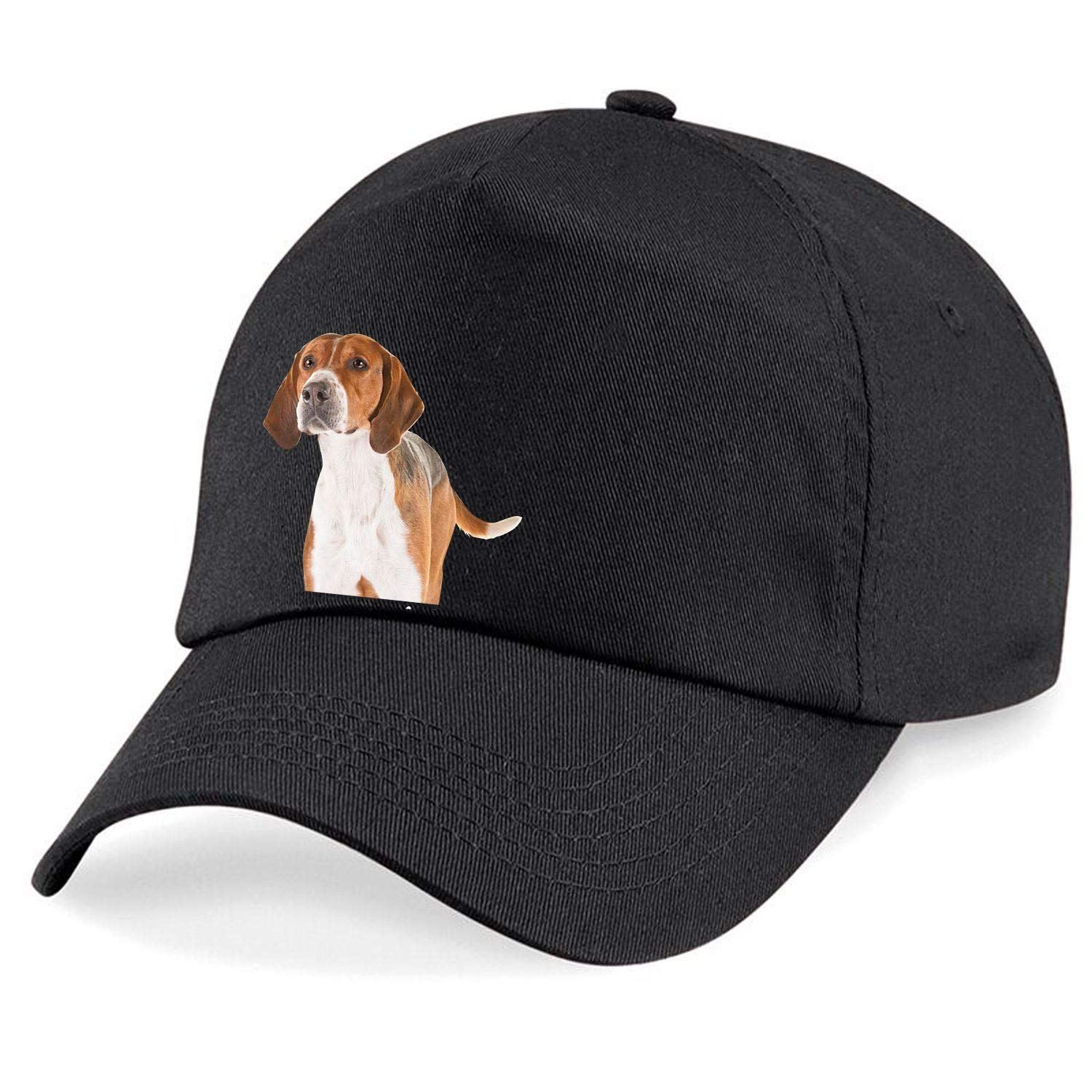 Taurus Clothing English Foxhound Dog Personalised Embroidered Cap Black