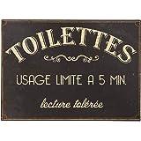 """plaque """"toilettes usage limité """" 15*21 cm"""