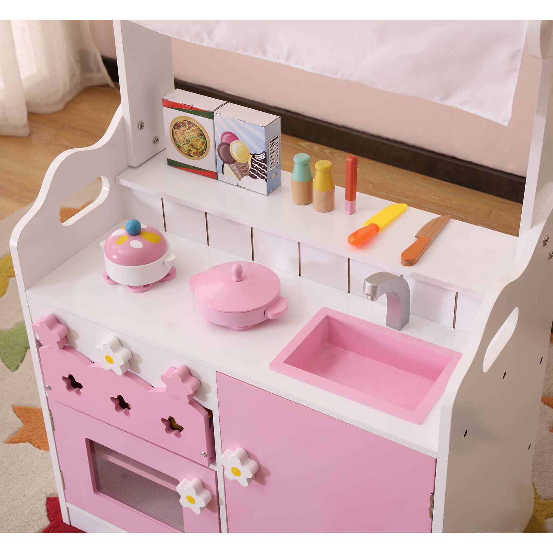 HILIROOM Cucina per Bambini Set da Gioco in Legno, Cucina ...