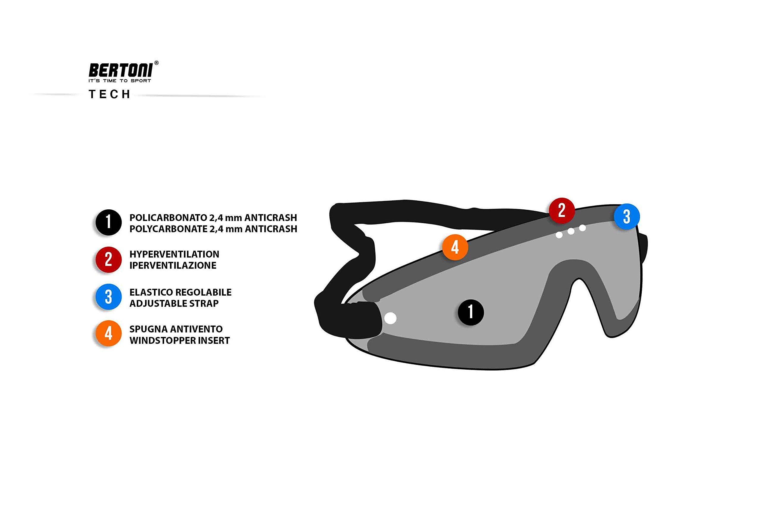 Masque lunettes moto Bertoni AF79 6
