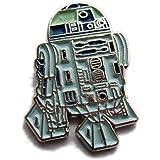 Spilla in metallo smaltato Star Wars R2 D2 robot androide