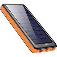 kilponen Solar Powerbank 26800mAh Solar Ladegerät USB C, Power Bank mit 3 Eingänge & 2 Ausgänge Hohe Kapazität Externer…