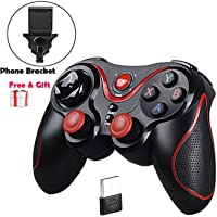 MallTEK Manette PS3 PC Smartphone sans Fil, Manette Gamepad Wireless pour PS3 PC TV Box Smart TV et Smartphone