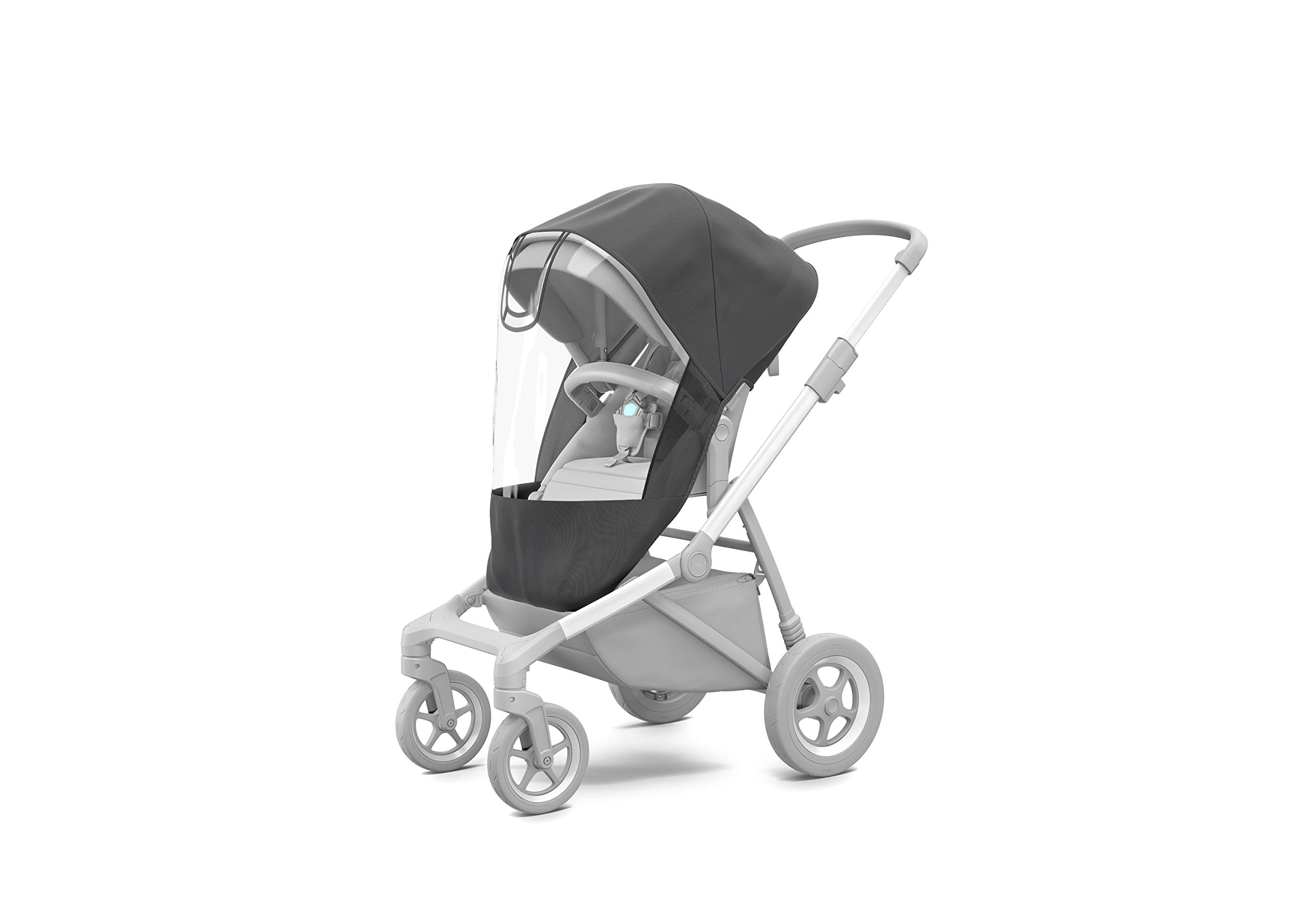Thule Sleek Sibling Seat, Black Thule Ventilated canopy with peekaboo window and extendable sun visor gives your child a pleasant ride in any weather and provides UV protection (UPF 50+) Comfortable large seating area, with generous sitting height and foot well Reversible seat for parent- or forward-facing position 8