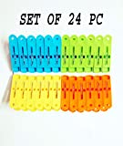 M2 Look Plastic Clips Clothes Pegs Multipurpose for Drying (Set of 24 Pc)