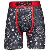 PSD Underwear Men's Stretch Wide Band Boxer Brief Underwear - Bandana Print | Breathable, 7 inch Inseam |