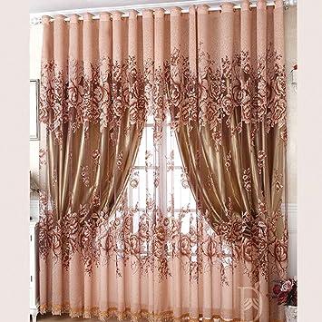Amazonde Hoomall Transparent Gardinen Wohnzimmer Voile Vorhang Dekoschal Vorhnge Schlaufenschal