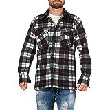 ZARMEXX Camisa t/érmica de manga larga para hombre camisa de trabajo de franela dise/ño de le/ñador