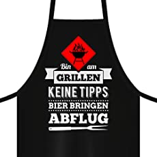YORA Grillschürze für Männer lustig - Bin am Grillen & Senf
