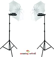 Portable Studio Umbrella Video Light for Still Photography with 9ft Stand