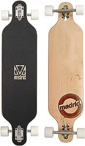 "Madrid Twin-Tip Longboard, Drop-Through, Trance DT Brandmark 39"" (99cm), Komplettboard Freeride Cruiser Board"