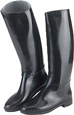 Covalliero Kerbl Reitstiefel Hippo aus Kunststoff, mit Sporenhalterung, schwarz