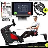 Sportstech RSX500 Rameur- Marque Allemande de qualité -Video & multijoueurs APP - avec Moniteur de fréquence Cardiaque…