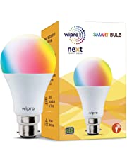 Wipro WiFi Enabled Smart LED Bulb B22 9-Watt (16 Million Colors + Shades of White) (Compatible with Amazon Alexa and Google Assistant)