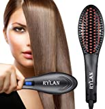 RYLAN Hair Electric Comb Brush 3 in 1 Ceramic Fast Hair Straightener For Women's Hair Straightening Brush with LCD…