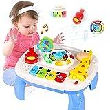 ACTRINIC Mesa Musical De Estudio Juguete para Bebés De 6 A 12 Meses Juguete De Educación Temprana Juguete Musical Mesa De Jue