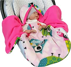 Atelier MiaMia - Einschlagdecke Baby Limitiert !! Einschlagdecke Babyschale Eulen bunt