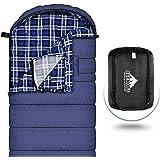 Agemore Katoenen flanellen slaapzak voor volwassenen, 230x89cm XL, waterdicht, geweldig voor backpacken, reizen, kamperen, wa