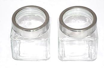 Treo By Milton Cube Jar Set, 580ml, 2-Pieces,Transparent