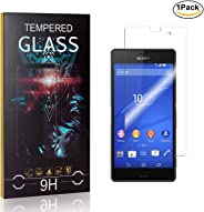 MoKiin Tempered Glass Screen Protector for Sony Xperia Z3 Compact, Anti Fingerprint, 9H Hardness Tempered Glass, Bubble Free