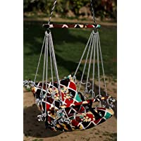 Rexez Cotton Swing Chair for Kids Baby's Children Folding and Washable 1-6 Years with Safety Belt - Home, Garden Jhula…