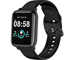 ASWEE Smart Watch, Fitness Tracker with Heart Rate Blood Pressure Monitor, Waterproof Watch with Sleep Monitor, Calorie Step