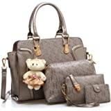 LACIRA Women's Shoulder Bag with Handbag, Satchel & Card Holder (Set of 4)