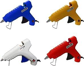 GLUN OZ Hot Melt Glue Gun with 3 Glue Sticks, 40W (Assorted)