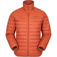 Mountain Warehouse Featherweight Mens Down Jacket - Lightweight Winter Coat, Easy Care, Packaway Bag, Water Resistant…