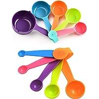 Lot de 10 Cuillères Doseuses Cuillères et Tasses à Mesurer en Plastique Doseurs de Cuisine pour des Mesures Précises de…