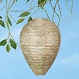 Euone Garden, 2 unidades de nido de avispas disuasorio amarillas con forma de abeja, nido de avispas falso, disuasorio simula