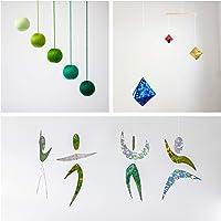 Set of 3 Montessori inspired mobiles - Green Gobbi, Dancers, Octahedron. Montessori mobile. Baby mobile. Hanging mobile…