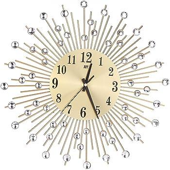 Perfekt Rosenice 3D Wanduhr Diamanten Dekorative Uhr Wanduhr Wohnzimmer Dekor Leise  Quarzuhren Moderne Puristische Uhren (Gold
