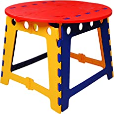 KitschKitsch Plastic Kids Portable Folding Table for Activity Play & Study